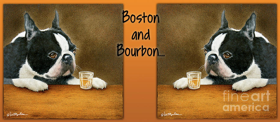 Will Bullas Painting - Boston And Bourbon by Will Bullas