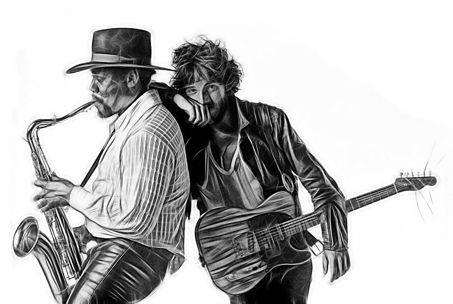 Bruce Springsteen Mixed Media - Bruce Springsteen Clarence Clemons Collection by Marvin Blaine