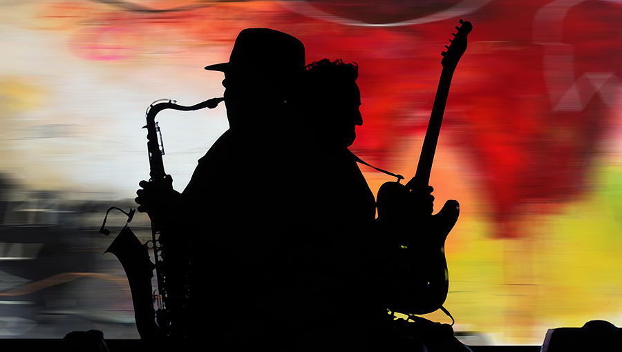 Bruce Springsteen Clarence Clemons Mixed Media by Marvin Blaine