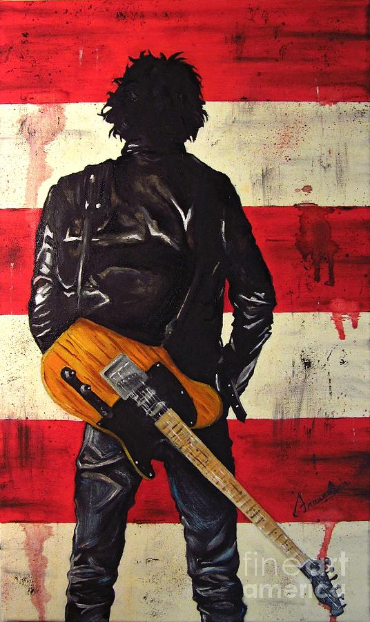 Bruce Painting - Bruce Springsteen by Francesca Agostini