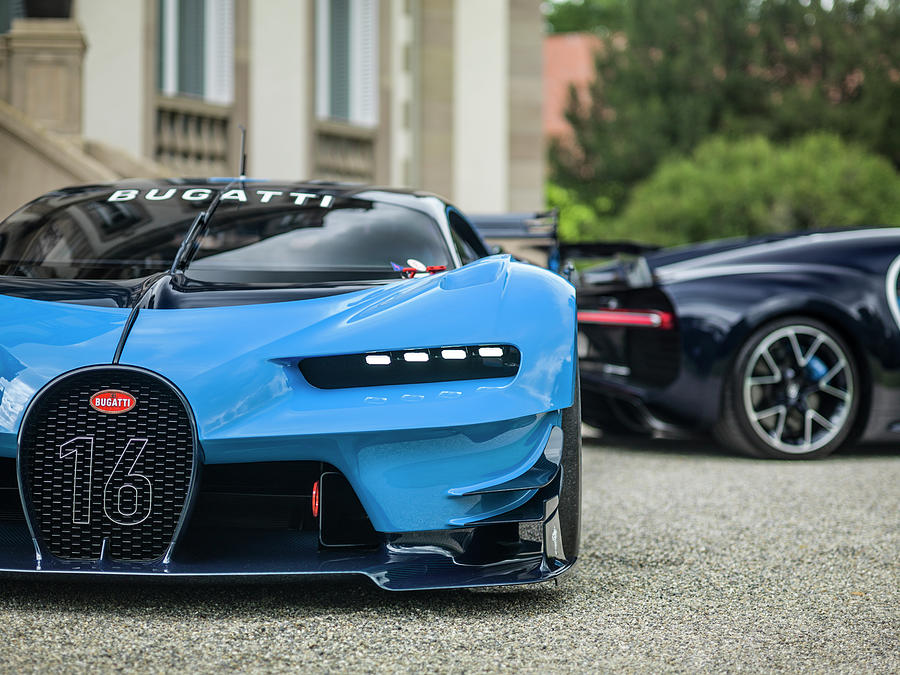 bugatti chiron and vision gt photograph by george williams. Black Bedroom Furniture Sets. Home Design Ideas