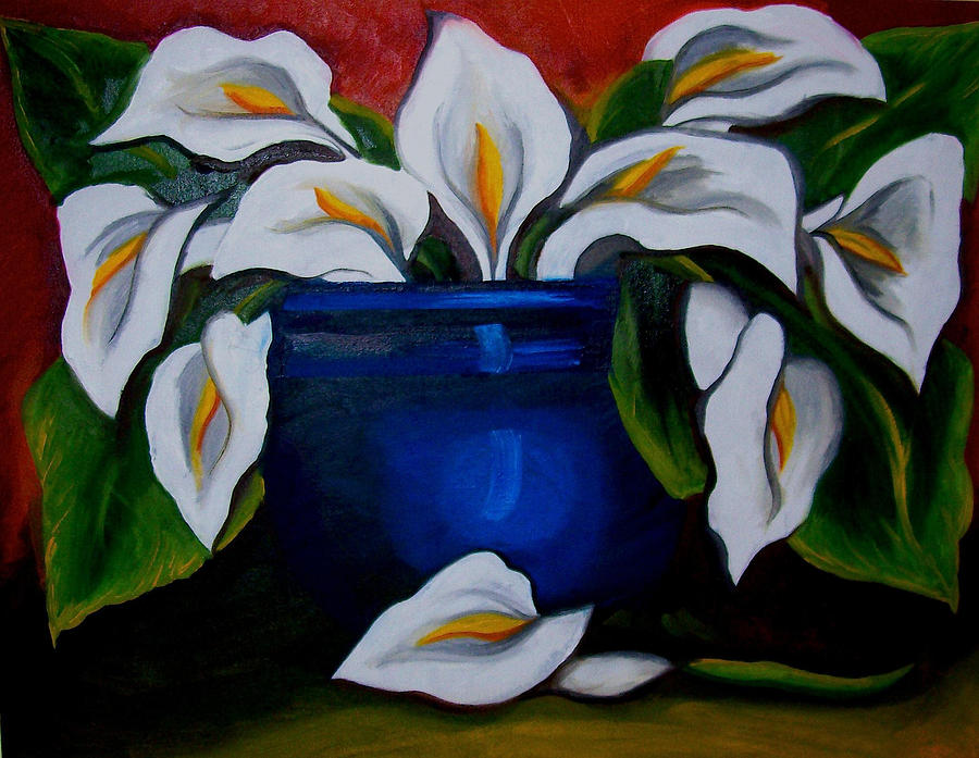 Flowers Painting - Calla Lilies by Misty VanPool