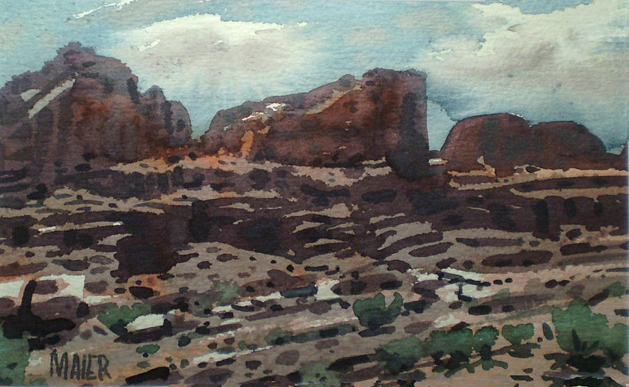 Watercolor Painting - Canyonlands by Donald Maier