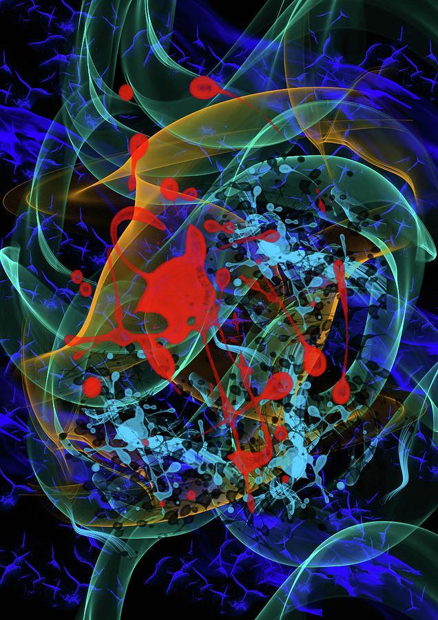 Abstrac Digital Art - Chromadepth by Gezer Coskun