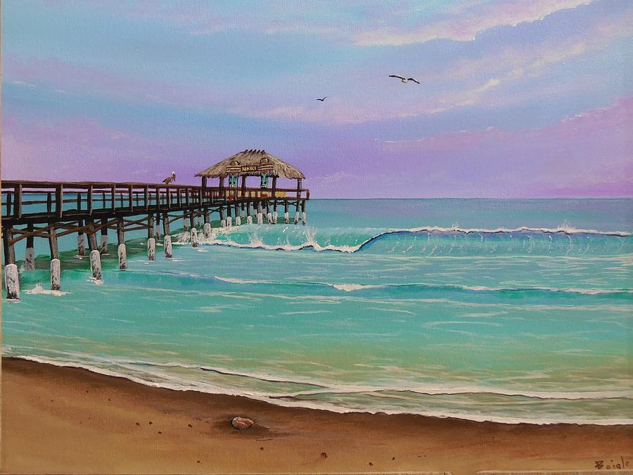 Cocoa Beach Pier >> Cocoa Beach Pier Painting By Bruce Reigle