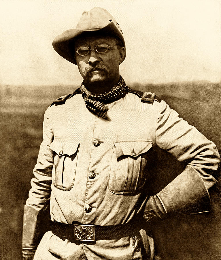 Theodore Roosevelt Photograph - Colonel Theodore Roosevelt by War Is Hell Store