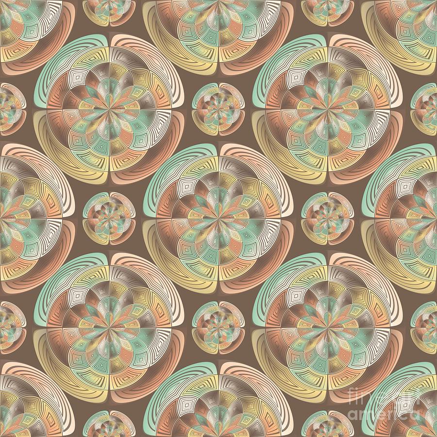 Decorative Digital Art - Complex Geometric Pattern by Gaspar Avila