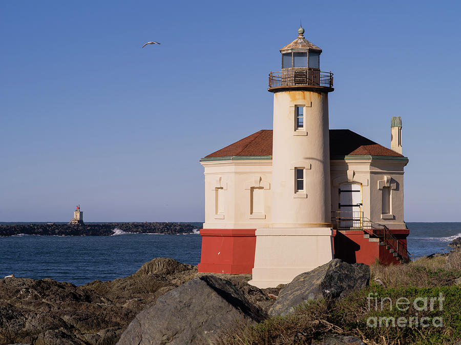 Bandon Photograph - Coquille River Lighthouse  by Tracy Knauer