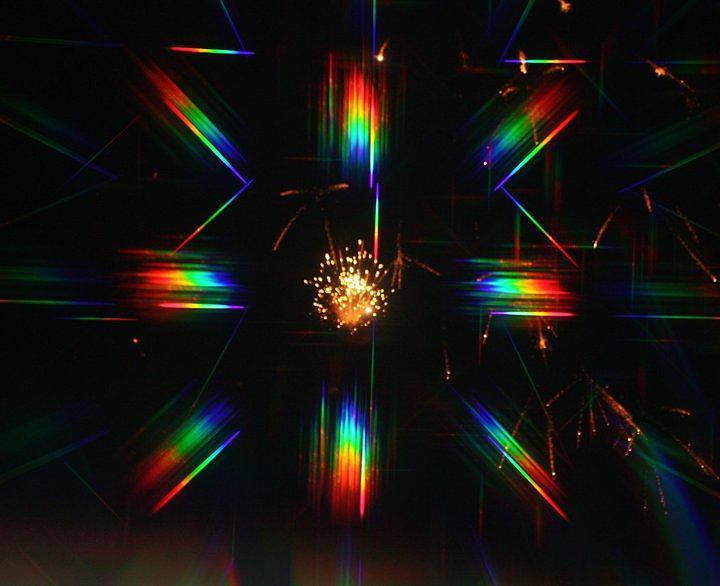 3-d Fireworks Photograph by JoAnn Tavani