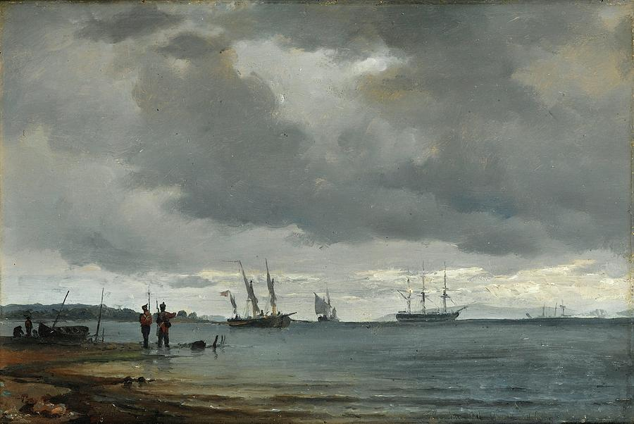 Sea Painting - Danish Seascape by Carl Frederick