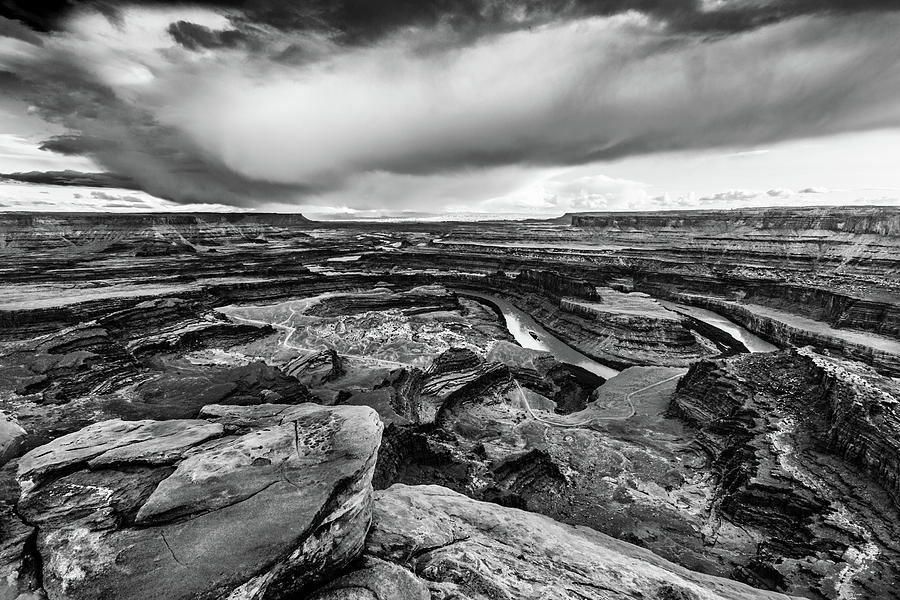 Black And White Photograph - Dead Horse Point by Jay Stockhaus