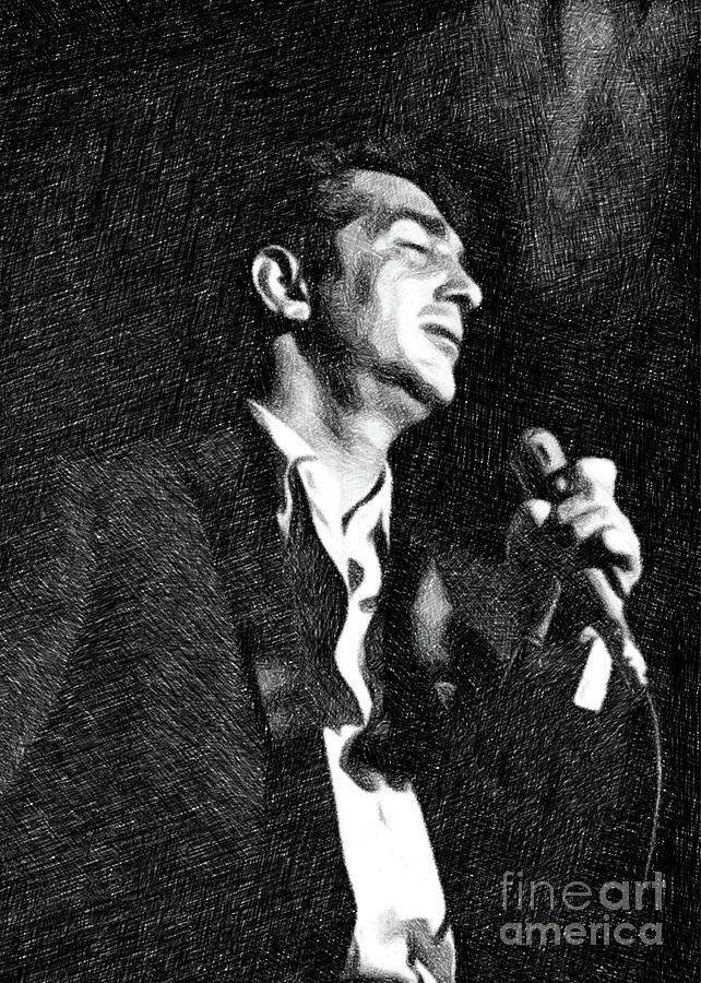 Dean Martin By John Springfield Drawing