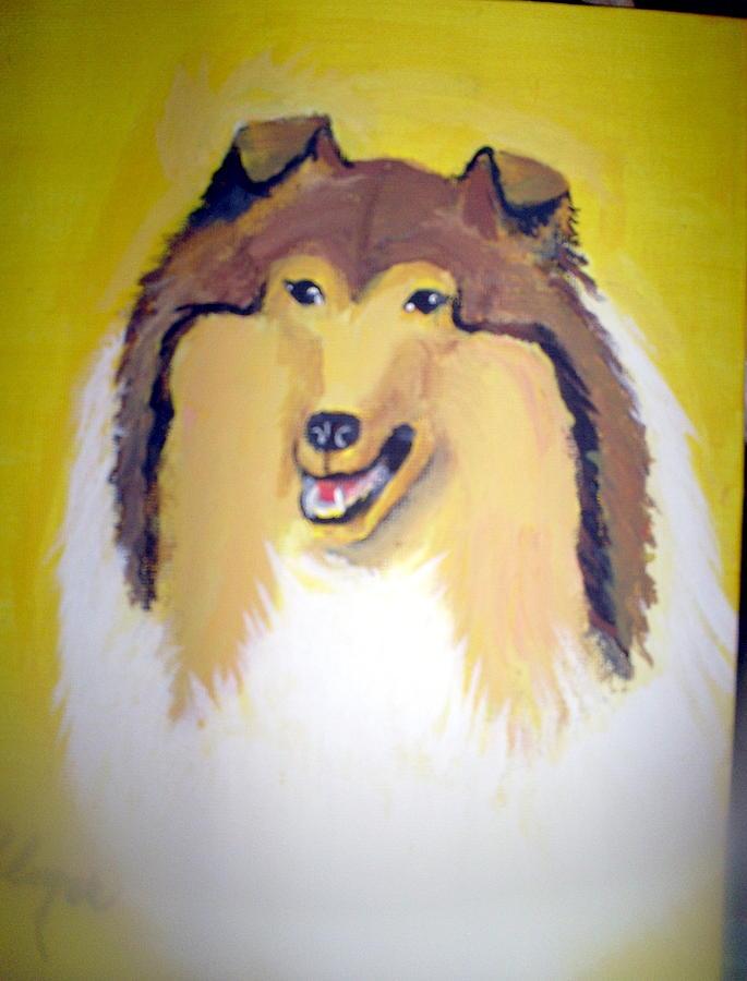 Dog Painting - dog by Margaret Palmer