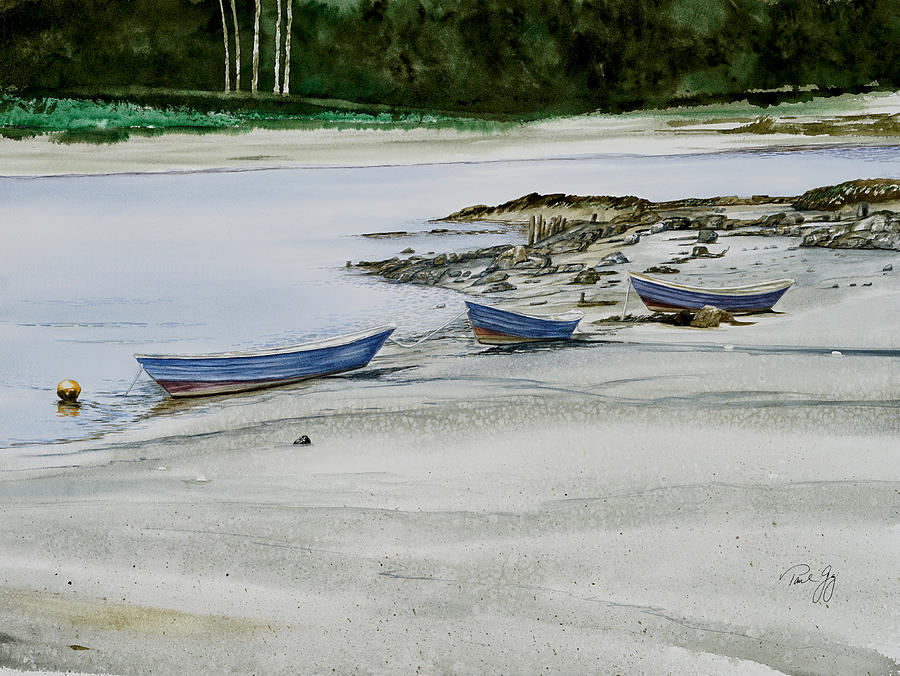 3 Dories Kennebunkport by Paul Gaj