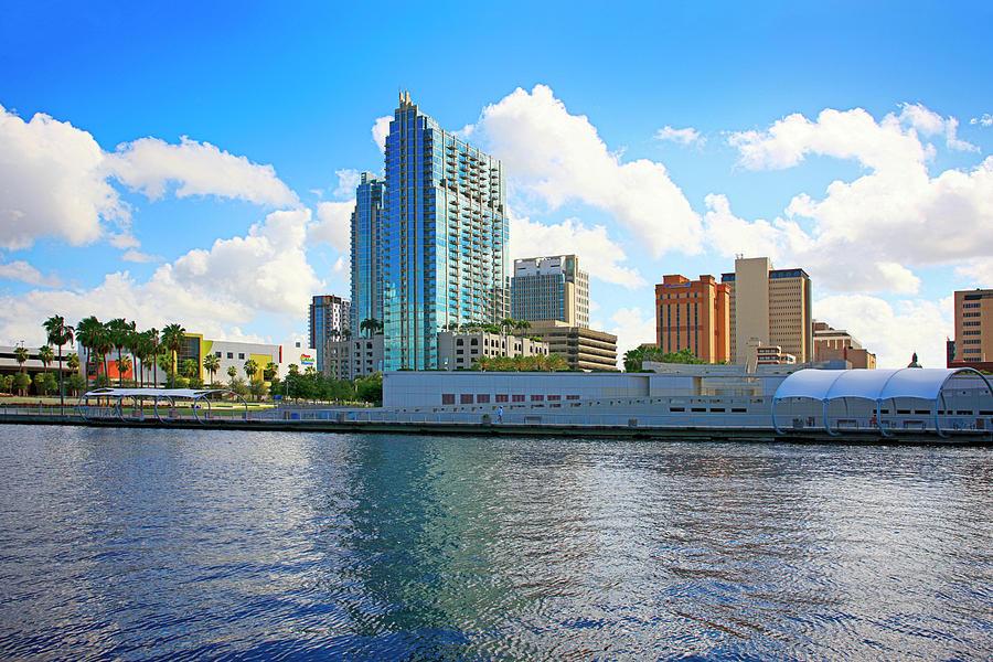 Riverfront Photograph - Downtown Tampa Fl, Usa by Chris Smith
