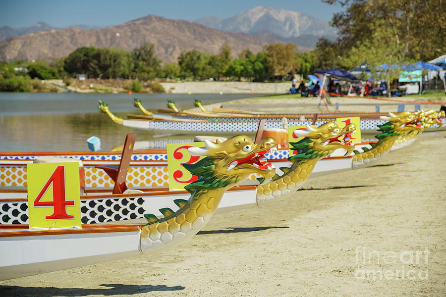 Dragon Boat At Santa Fe Dam Recreation Area Photograph By Chon Kit Leong