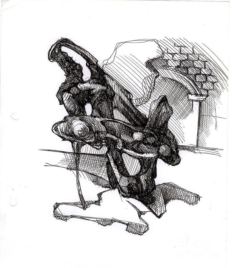Drawing Drawing - Drawing by Henryk M Korbanski