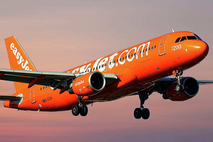 Easyjet Mixed Media - Easyjet 200th Airbus Livery Airbus A320-214 by Smart Aviation