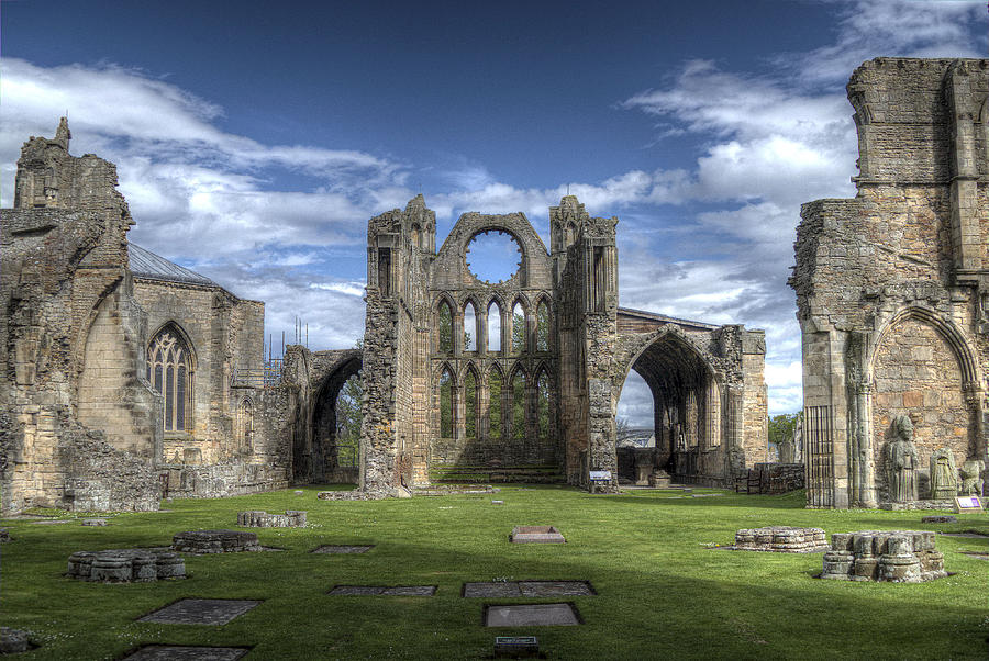 Elgin Photograph - Elgin Cathedral by Mark Smith
