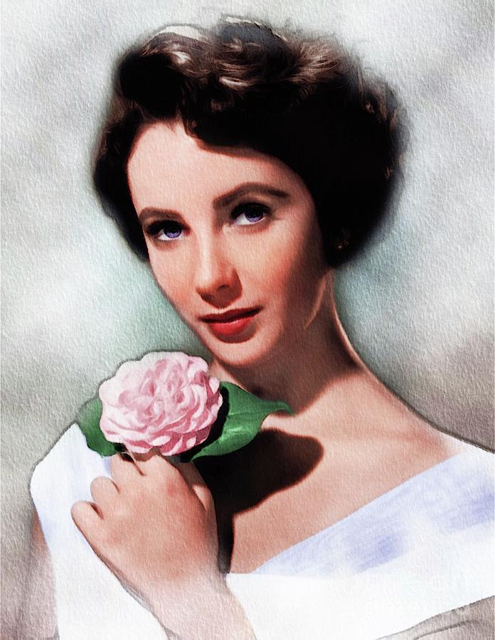 Elizabeth Taylor, Vintage Actress Painting