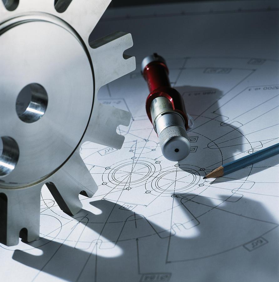 Cog Photograph - Engineering Equipment by Tek Image