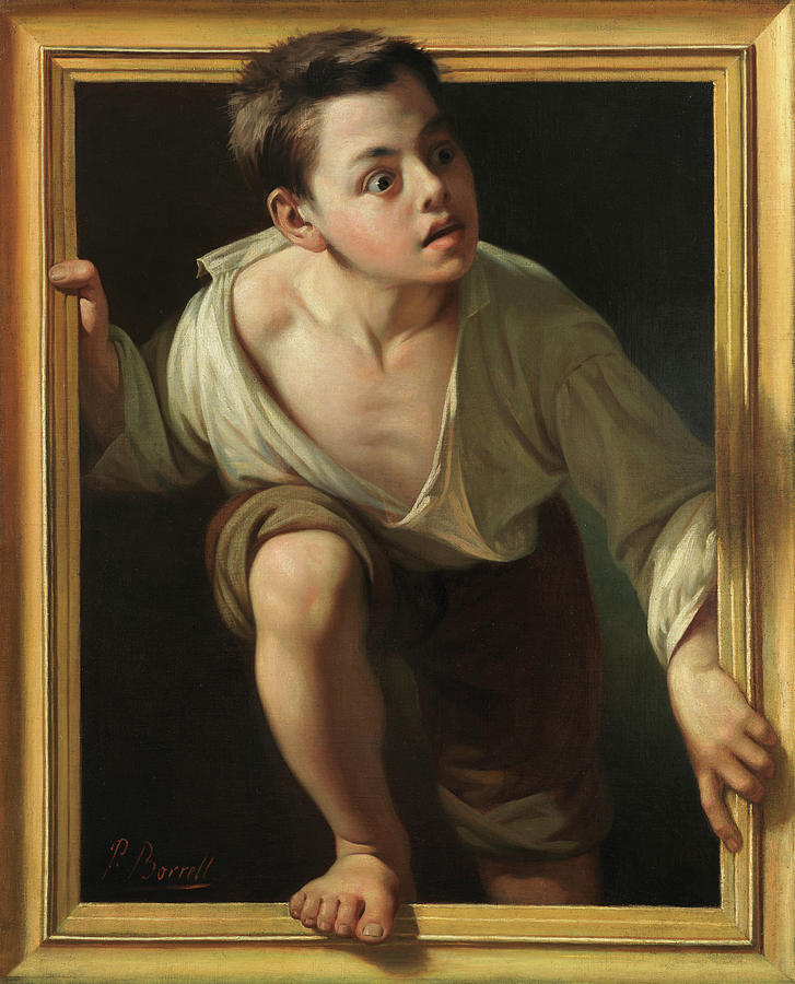 Pere Painting - Escaping Criticism by Pere Borrell Del Caso