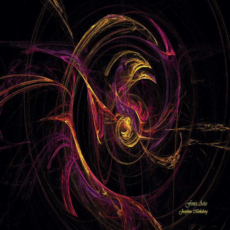 Fenix Digital Art - Fenix Arise by Josephine Morkeberg