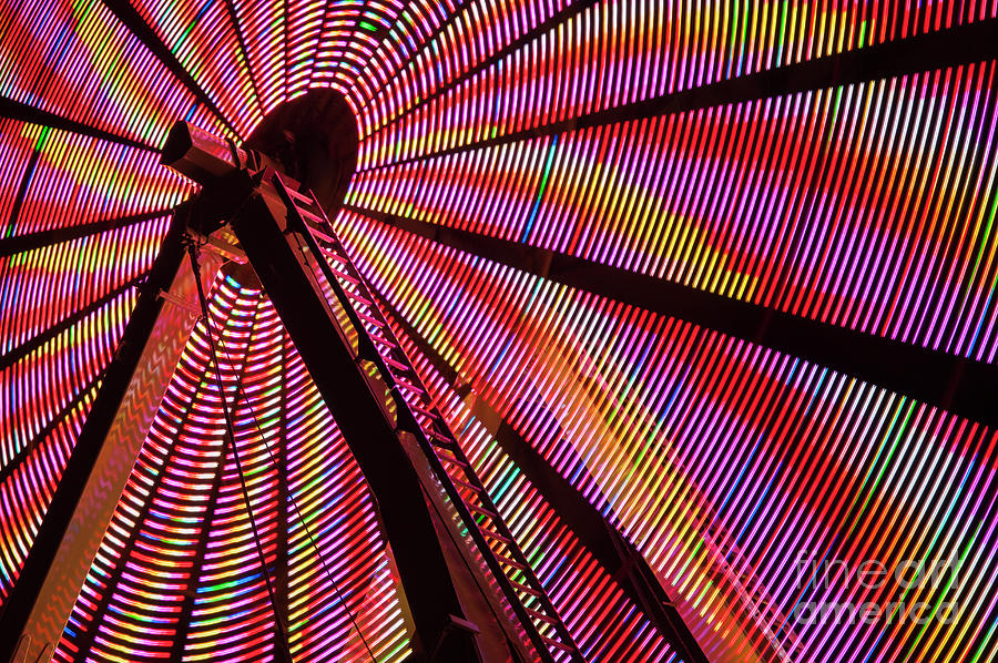 Ferris Wheel In Motion Photograph