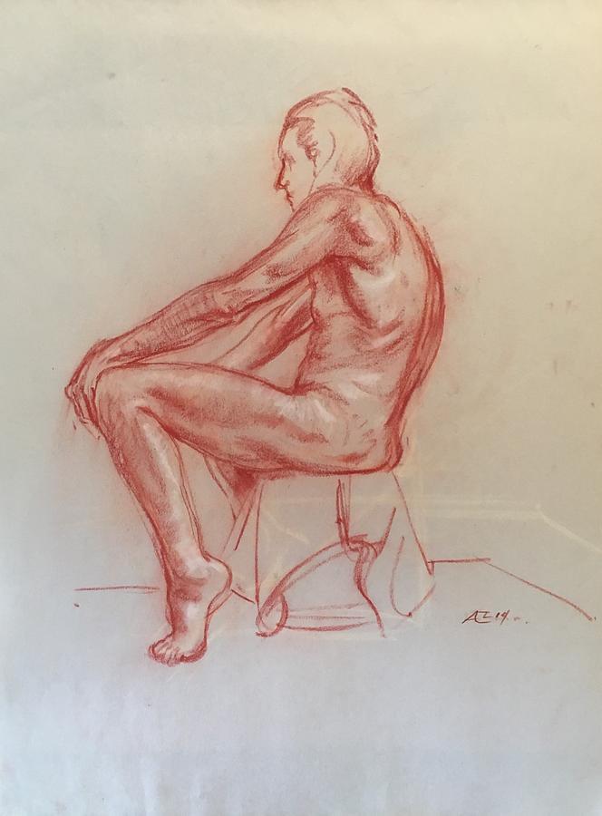 Figure Study Drawing by Alejandro Lopez-Tasso