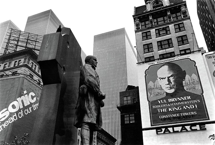 Film Homage The Fighting 69th 1940 Fr. Duffy Statue Yul Brynner Palace Theater New York 1977 Photograph by David Lee Guss