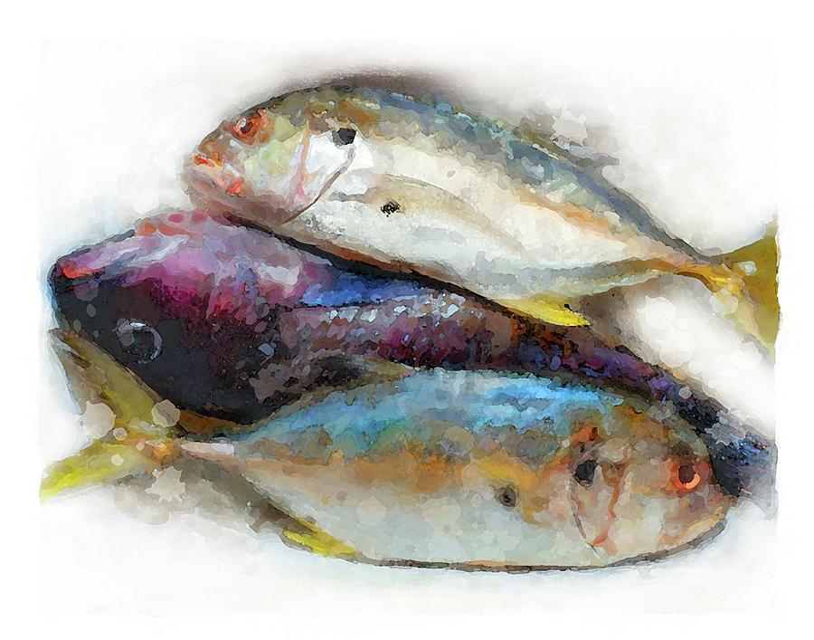 3 fishes by Brenda Leedy