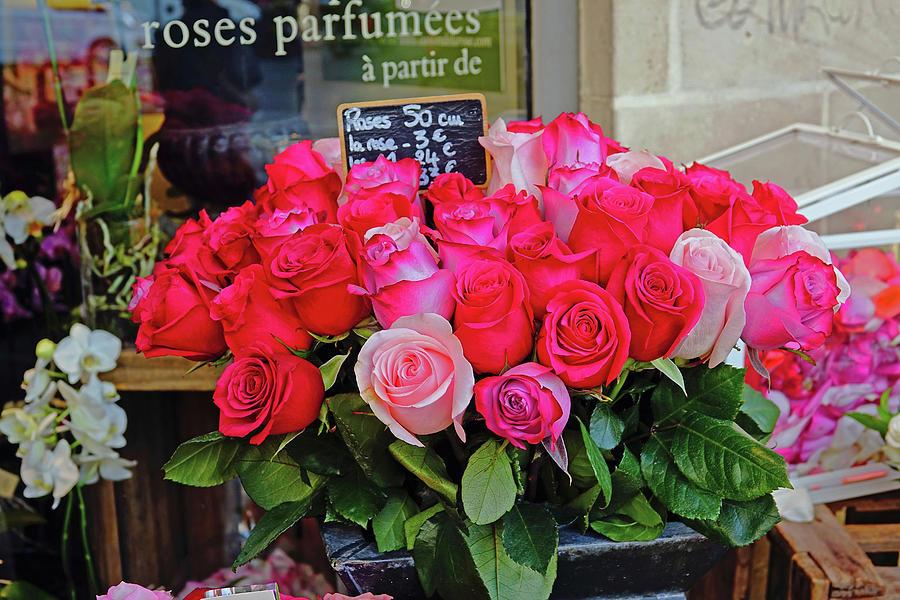 Flower Shop Display In Paris France