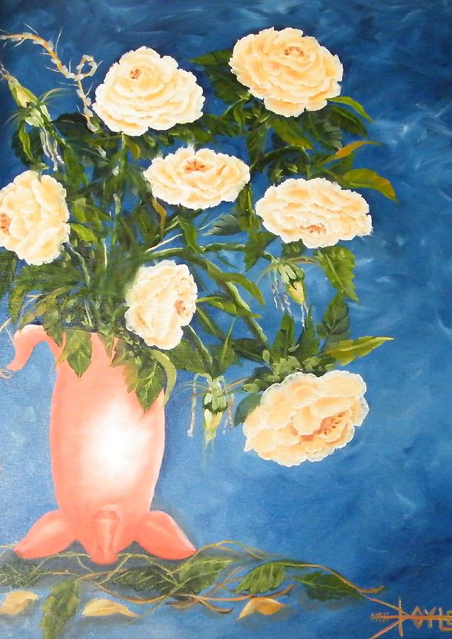 Flowers Painting by Larry Doyle