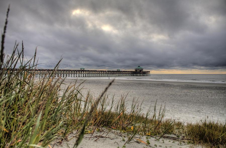 Folly Beach Photograph - Folly Beach Pier  by Dustin K Ryan