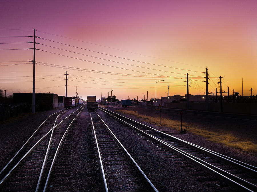 Train Tracks Photograph - F.P. Nielson and Sons Flour Mill by Tony Nardecchia