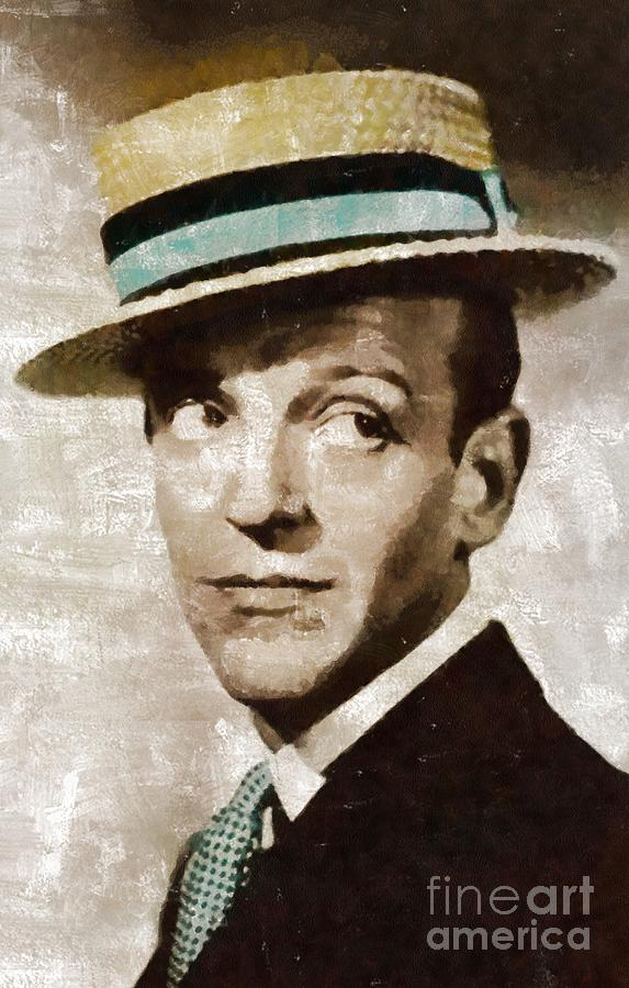 Hollywood Painting - Fred Astaire Hollywood Legend by Mary Bassett