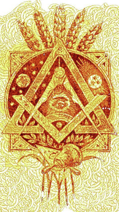 Freemason Digital Art - Freemason Symbolism by Pierre Blanchard
