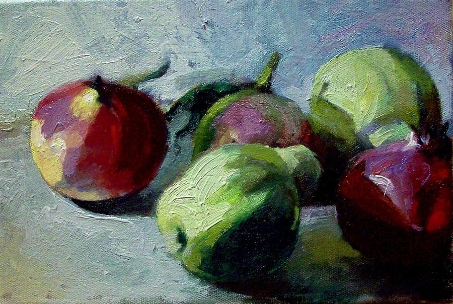 Fruits Painting by George Siaba