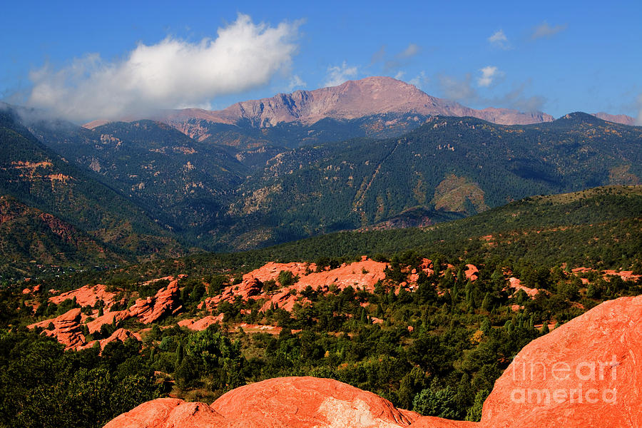 Garden Of The Gods And Peak Photograph