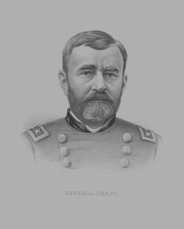 General Grant Drawing - General Grant - Two by War Is Hell Store