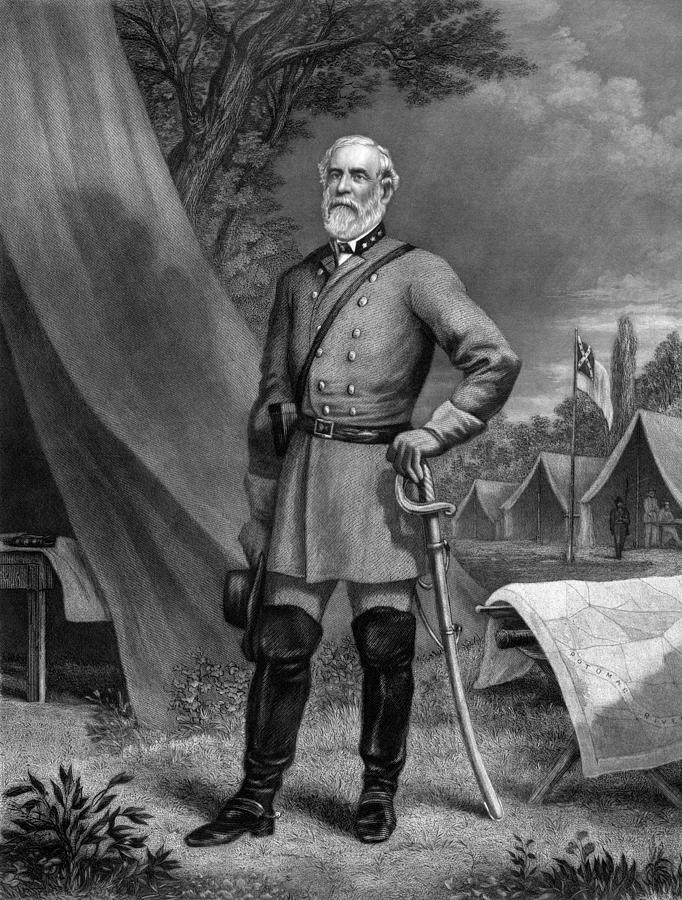 Robert E Lee Painting - General Robert E Lee by War Is Hell Store