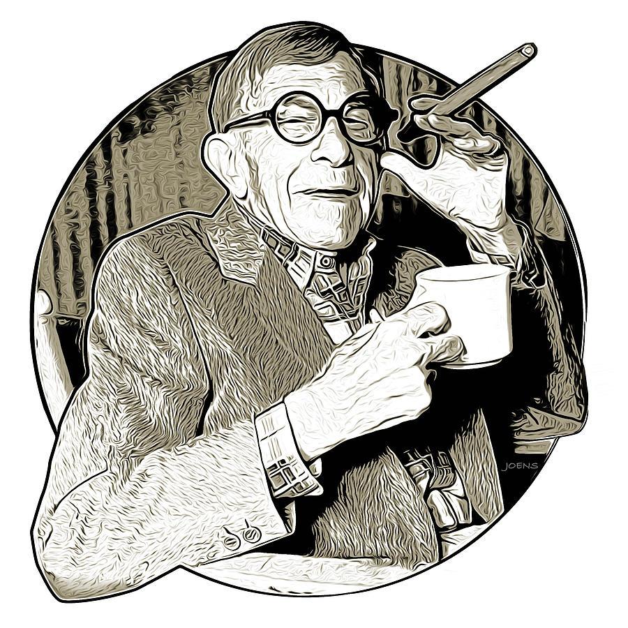 George Burns Drawing - George Burns by Greg Joens