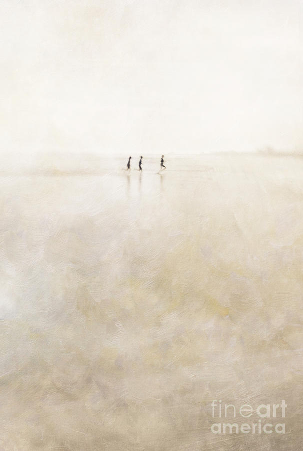 3 Photograph - 3 Girls Running by Paul Grand