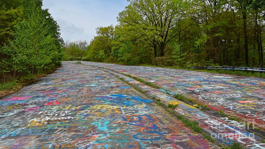May Photograph - Graffiti Highway, Facing North by Ben Schumin