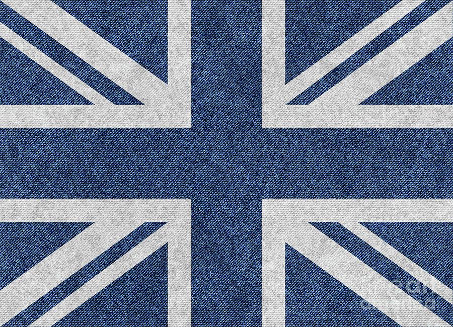 Vector Digital Art - Great Britain Denim Flag by Iurii Vlasenko