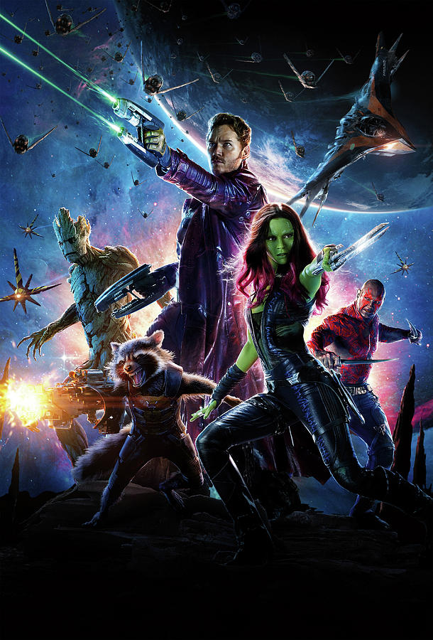 Guardians Of The Galaxy Digital Art - Guardians Of The Galaxy by Geek N Rock