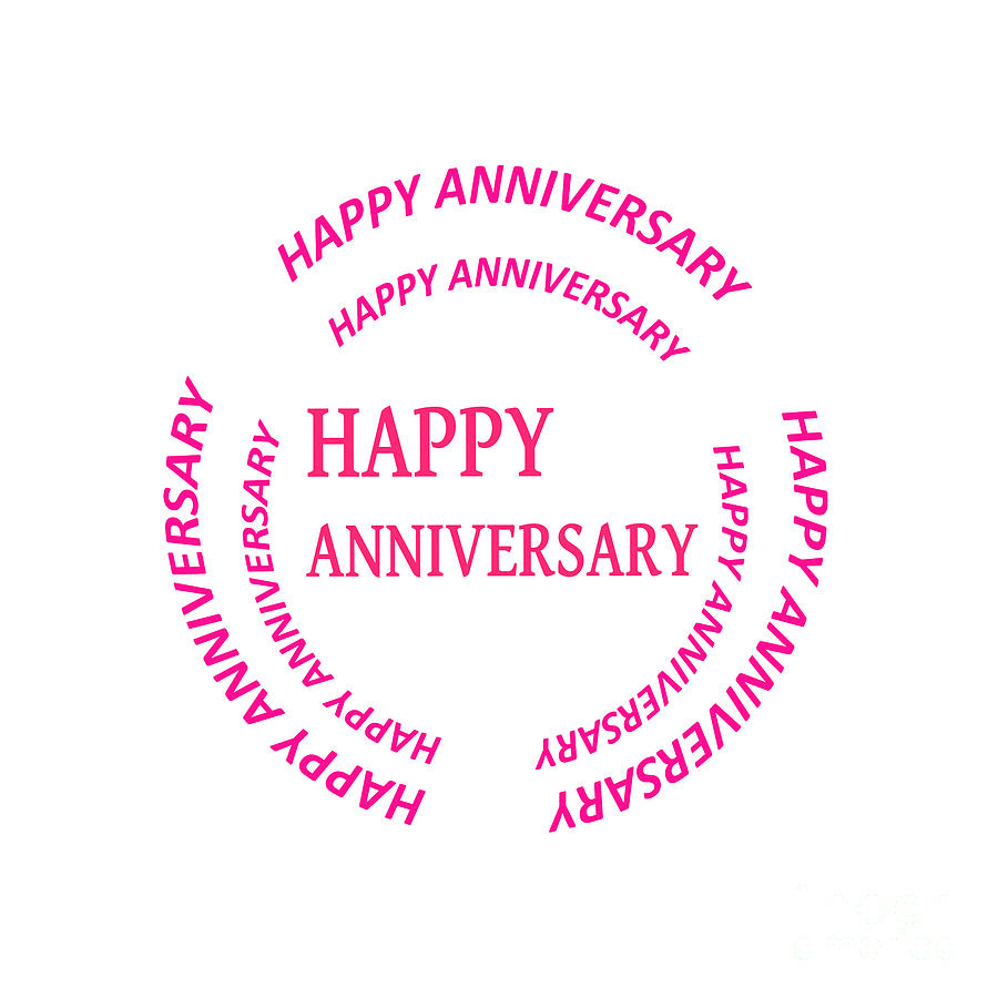 Happy Anniversary Text See On Pillows Curtains Duvetcovers