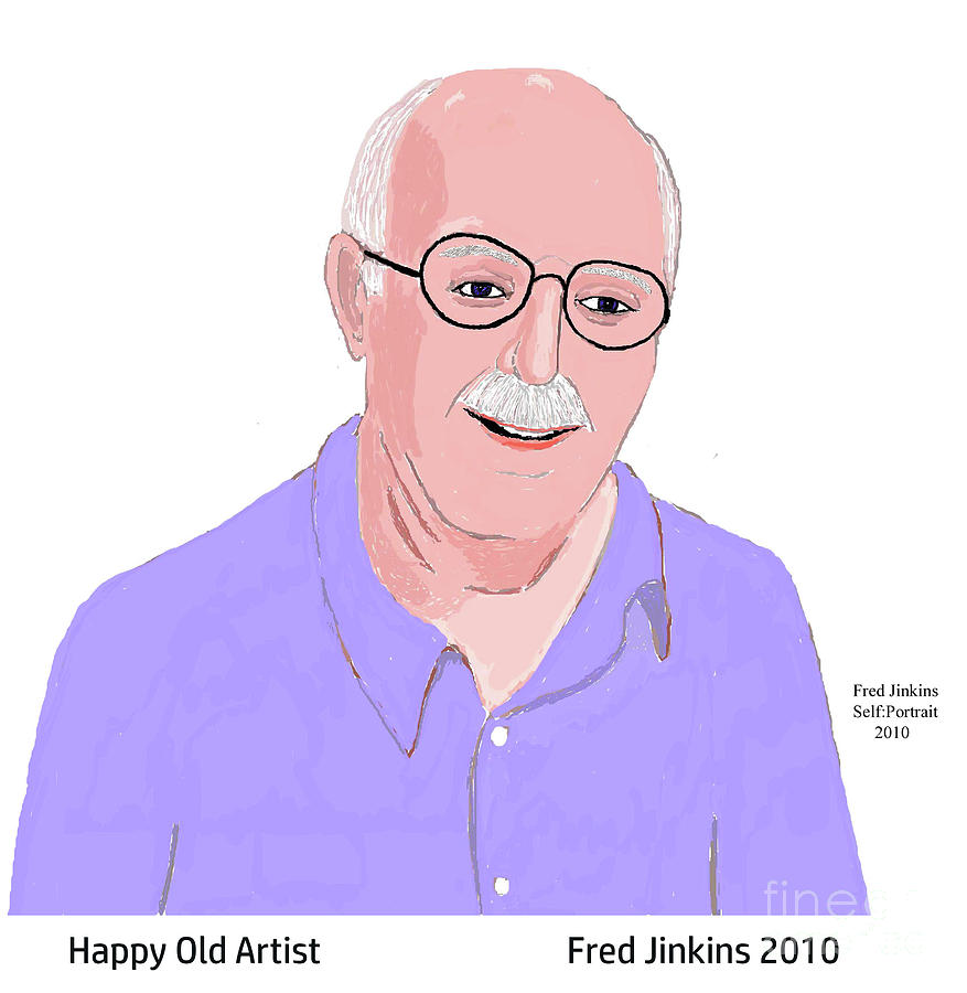 Houston Artist Painting - Happy Old Artist by Fred Jinkins