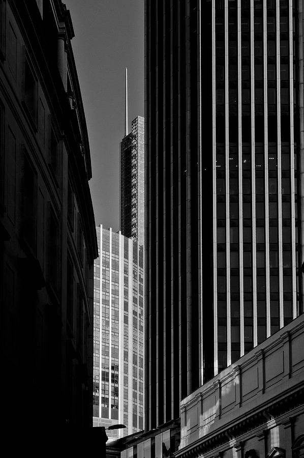 Broadgate Photograph - Heron Tower London Black And White by Gary Eason