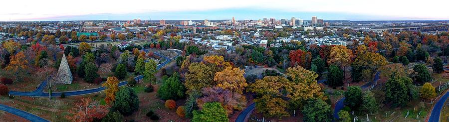 Hollywood Cemetery Photograph - Hollywood Cemetery Fall 2016 by Tredegar DroneWorks